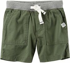Carter's Boys Elastic Waist Green Cotton Shorts  NWT Size     7    MSRP 24