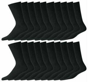 10 Pair Mens Casual sport work Warm Black Socks Winter Cotton Rich Size 6-11 LOT