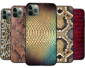 Matt Finish Snake Skin Pattern Printed Phone Case Cover for Apple iPhone