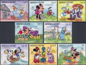 Sierra Leone 1986 Walt Disney/Nursery Rhymes/StampEx/Cartoons/Animation 8v b245z