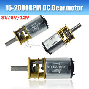 GA12-N20 600RPM 3/6/12V 15-2000RPM DC Gearmotor Micro Gear Motor Metal Gearbox