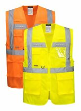Portwest Orion LED Executive Vest Hi Vis Light Waistcoat Safety Work Wear L476