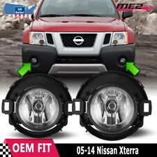 For Nissan Xterra 05-14 Factory Bumper Replacement Fit Fog Lights Clear Lens
