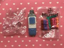New Bayer Microlet 2 Diabetes Lancing Device, Clear Cap 10 Lancets