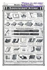 Büroartikel Soennecken XL Reklame 1913 Füller Kalender Tintenfass Werbung