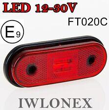 LED Umrissleuchte Seitenmarkierungsleuchte Position Rot  PKW LKW 12V 24V ABE