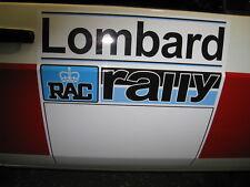 PAIR OF LOMBARD RAC RALLY DOOR SQUARES, FORD ESCORT,MINI, CLASSIC RALLY CAR