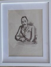 August Wilhelm Dressler, Man At Table, signed Lithograph, Very Very Rare