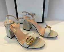 NEW GUCCI MARMONT GG LOGO SANDAL LEATHER sz 37 MSRP: $735