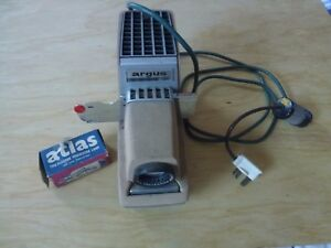 Rare working Argus 300 automatic slide projector 2X2 with spare lamp- Cost £300