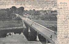 Bromberg, Hafen u. Wilhelmsbrücke, Postkarte 1904