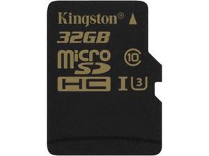 KINGSTON High Speed Micro SDHC Class 10 U3 UHS-I SD Memory Card 32GB(HD Videos)