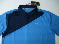 Nwt Under Armour Golf Coolswitch Shirt - blue pattern and Navy - Mens 2Xl