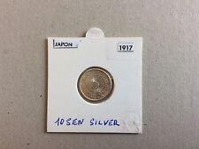 Pièce en argent de 10 sen JAPON 1917