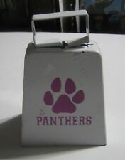 PANTHERS COWBELL White Mini Cowbell With Pink Panther Logo PITT N. Iowa BRIGHTON