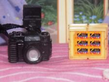 Barbie Camera w/Kodac film rolls lot A fits Fisher Price loving family dollhouse