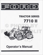 1985-1991 Ford Tractor 7710 Ii Owners Manual Maintenance Operators Book