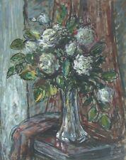 René GRAS (1911-2006) Pastel Roses Années 50 Expressionnisme Nle Ecole de Paris