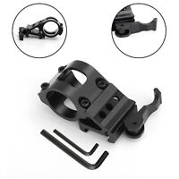 """Tactical 1"""" Offset Picatinny/Weaver Rail Mount per Flashlight con Quick Release"""