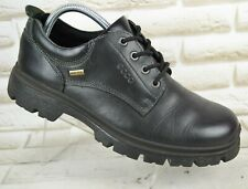 ECCO Gore-Tex Mens Black Leather Outdoor Hiking Boots Waterproof Size 9 UK 43 EU