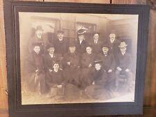 Very OLD Unique FAMILY PORTRAIT All Black clothes seem Victorian ? Antique PHOTO