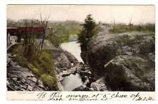 CT - NORWICH STAMFORD CONNECTICUT 1907 Postcard INDIAN LEAP YANTIC FALLS