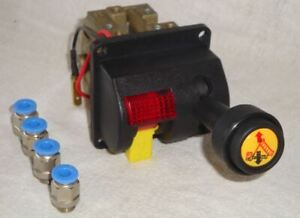 IN CAB TIPPER LEVER CONTROL WITH PTO ENGAGEMENT SWITCH - 6MM