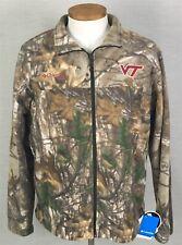 Columbia Men's XL Virginia Tech Hokies Fleece PHG Jacket Realtree Camo MSRP $75