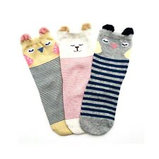 Animal Crew Stripy Kids Socks 3 Pairs in a pack Shoe Size 9-12.5 UK Seller