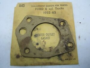52-63 Ford Truck 6cyl Water Outlet Gaskets (2) STANT A45