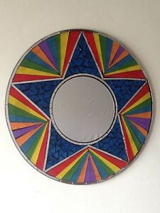 Star rainbow mosaic mirrors & Matching Bowls Choice Of Colours/Sizes. Seconds!