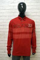 Polo MURPHY & NYE Uomo Taglia XXL Maglia Maglietta Camicia Shirt Cotone Rosso