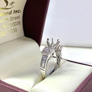 0.82ct Diamond Semi Mount Engagement Ring in 18k White Gold