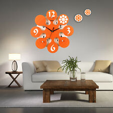35cm Large Digital Mute Quartz Motion Bubble Orange Wall Clock In outdoor Décor