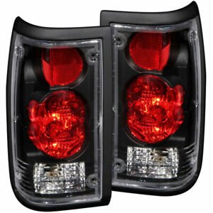 Anzo USA Euro Taillights Black for Mazda B2000/B2200/B2600 Pickup 1986-1993