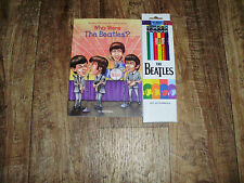 THE BEATLES WHO ARE THE BEATLES? BOOK AND SET OF 8 BEATLES PENCILS #2 TICKET BOX