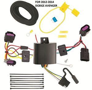 Trailer Wiring Harness Kit For 12-14 Chrysler 200 Dodge Avenger Plug & Play NEW