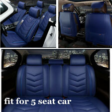 Comfort PU Leather+Sponge Car SUV Seat Cover Cushion Front Rear Seats Protector