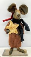 Primitive/Country Christmas Star Mouse  Doll Folk Art /Collectable