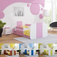Łóżko dziecięce z barierką, materacem i szufladą 140x70 lub 160x80