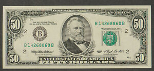 1993 $50 FRN FEDERAL RESERVE NOTE * NEW YORK * UNC NEARLY CONSEC! Lot#CA112