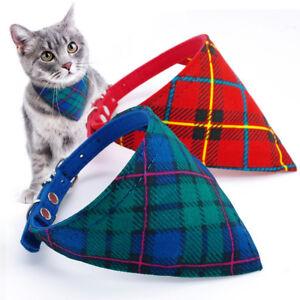 Fashion Cotton Triangle Cat Neckerchief Collar Puppy Kitten Scarf Dog Cat Collar