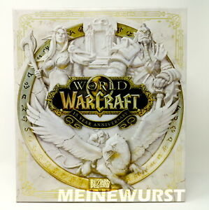 World of Warcraft 15th Year Anniversary Collectors WOW Leerbox EMPTY Box white.