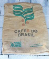 brésil SAC de CAFE do BRASIL en TOILE de JUTE bag Jutestoff BRAZIL COFFEE efico