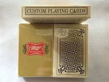 vintage 70's Miller High Life playing cards