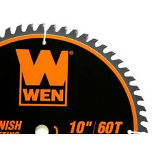 10 in. 60-tooth fine-finish professional woodworking saw blade for miter saws