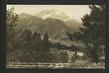 Wyoming WY real photo postcard RPPC Yellowstone Park, Elecrtic Peak Livingston