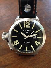 U-Boat ITALO FONTANA IFO GANCIO SINISTRO NERO B45-08 45MM Orologio Con Scatola