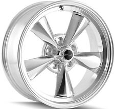 """Staggered Ridler 675 Front:15x7,Rear:15x8 5x4.75"""" +0mm Polished Wheels Rims"""