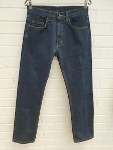 Kirkland Signature Jeans Reg Straight Zip Fly Sz Tag 32 Mens JE360